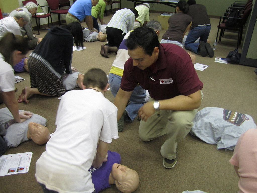 Instructor demonstrates proper CPR timing | American Red ...