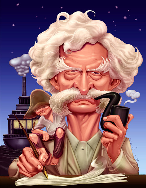 Rate our Mark Twain Caricature | Posted via email from Simpl… | Flickr