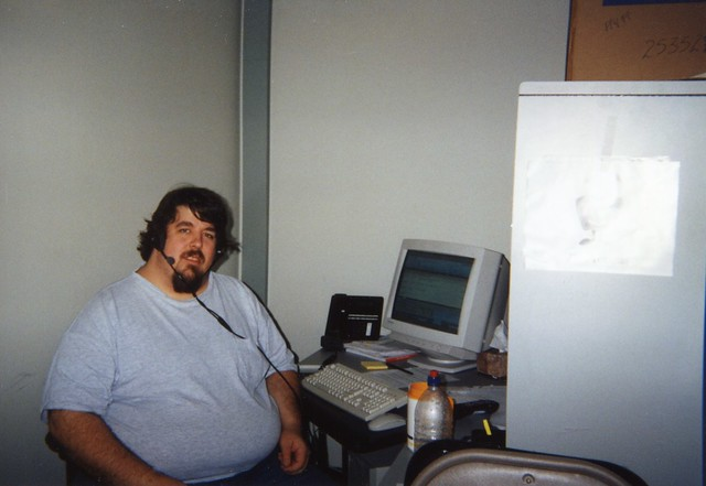 Me at my desk - TiVo 1999