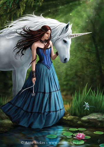 Girl and Unicorn | by mysticpagan