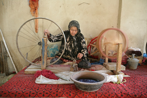 Old woman spinning wool - Hotan, Xinjiang | by retrotraveller