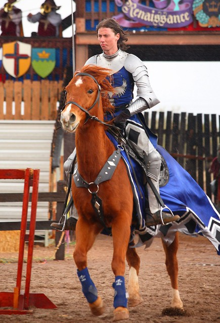 The crowd favorite at the jousting competition