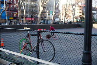 Bike on Fence in the LES