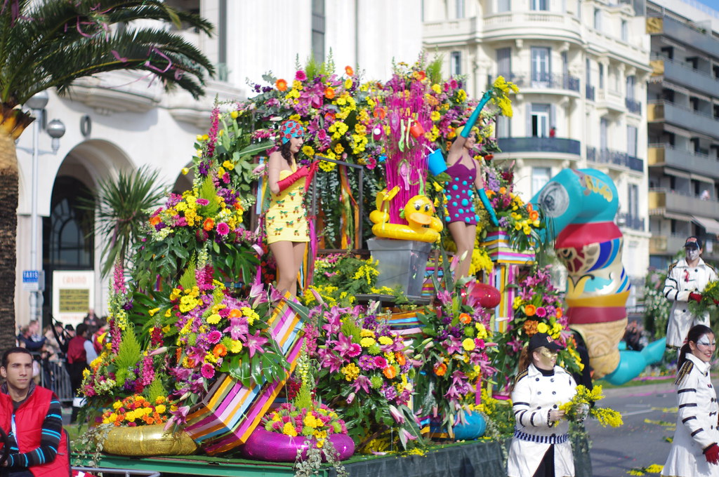 Battle Of Flowers At The Nice Carnival Since 1876 The