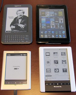 Kindle 3, Pandigital Color, Sony Daily Reader, Pandigital Black & Whilte | by Bobbi Newman