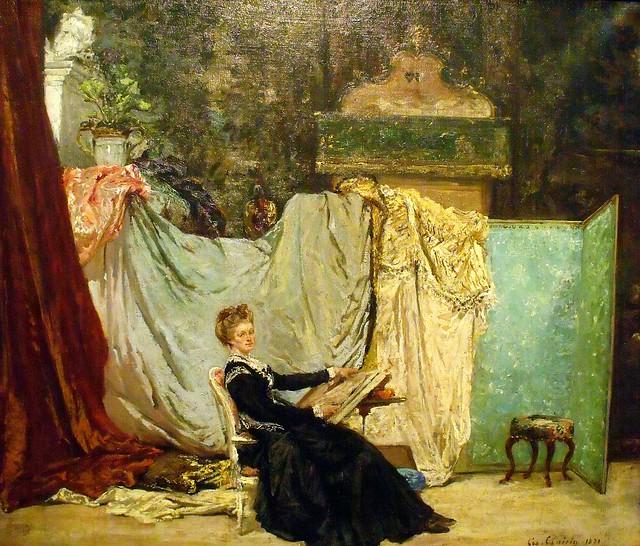 Georges Clairin, Marcello dans son atelier