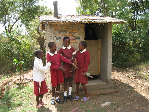 Girls VIP toilet built by pupils | by Sustainable sanitation
