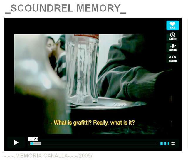 SCOUNDREL MEMORY / Documentary*English subtitles / ON LINE*