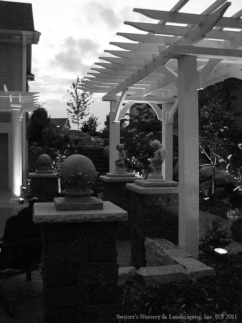 the ART of Landscape Design - Landscape Lighting in Black & White