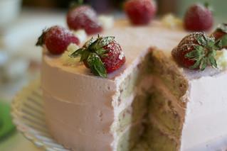 Strawberries & Champagne Cake   by Jordana Lea