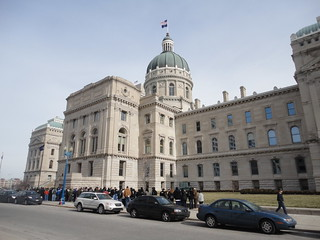 People Gather around the State Capitol - Indianapolis   by pasa47