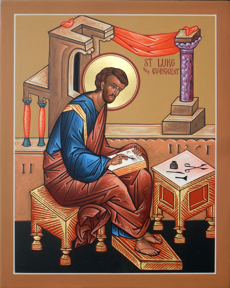 St. Luke the Evangelist | This icon depicts St. Luke writing… | Flickr