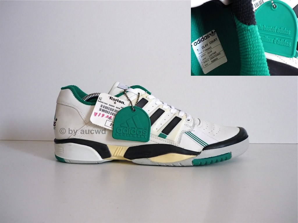 designer fashion e6e0f 00fb9 UNWORN 90`S VINTAGE ADIDAS TORSION EQUIPMENT TENNIS CLAY C ...