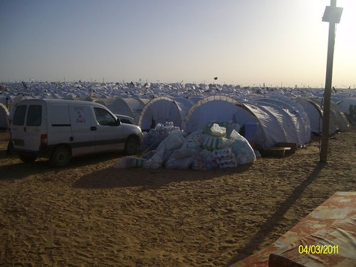 refugees camp near libyan border | by rais58