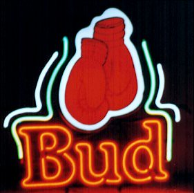 Budweiser Bud Boxing Gloves Neon Beer Sign | Budweiser Bud B