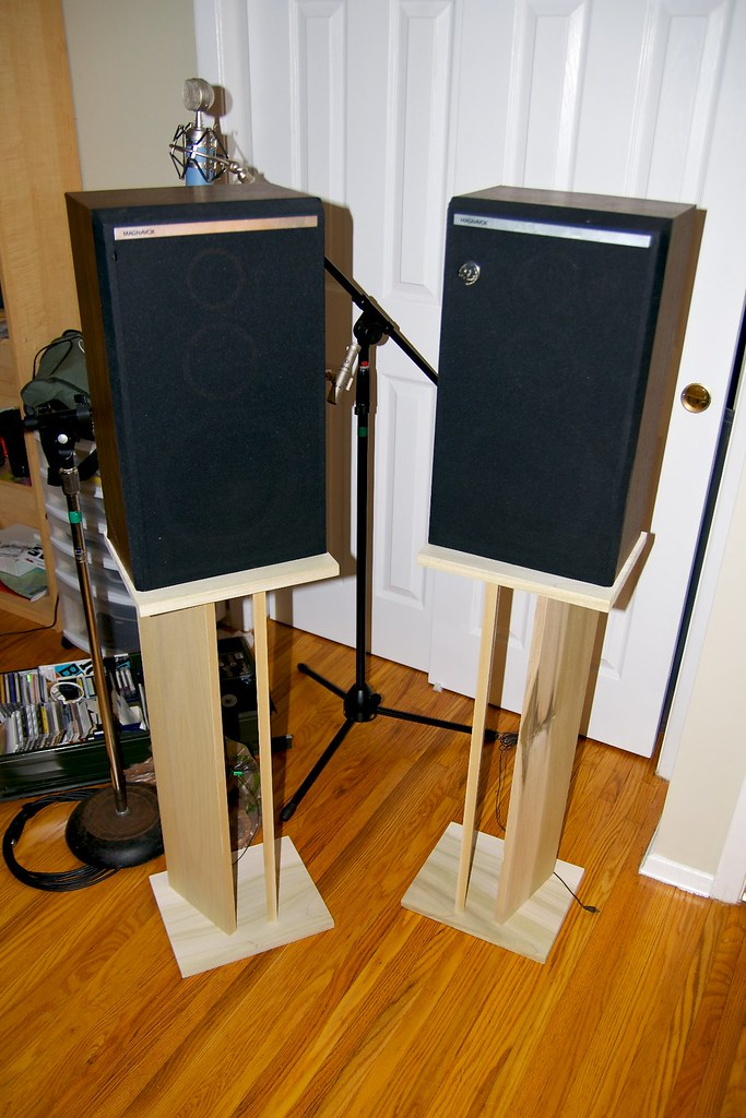 Diy Speaker Stands 40 At Lowes And 2 Hours Of Work 1 Po