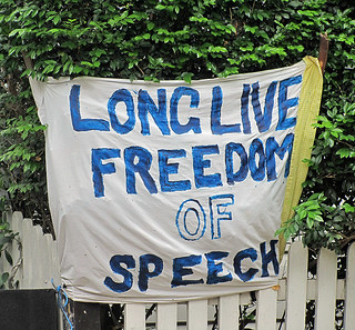 """LONG LIVE FREEDOM OF SPEECH"" 