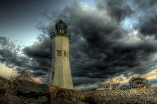 sunset sky lighthouse clouds sunrise rocks lighthouses massachusetts hdr scituate deaddogseye