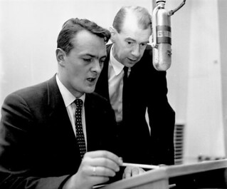 Erik Bye og Otto Nilsen i radiostudio 13. mars  1958. | by Riksarkivet (National Archives of Norway)
