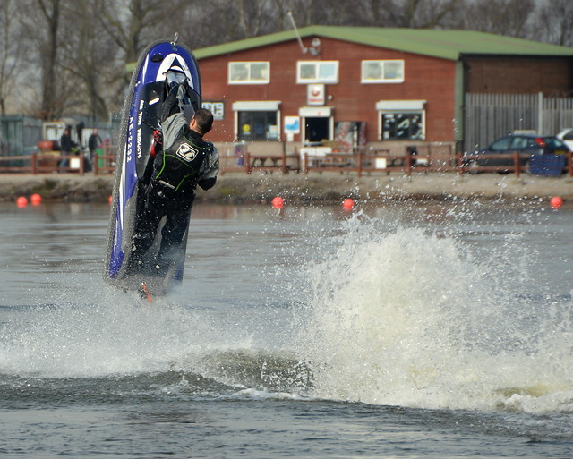 Kevin Thomas. Jet-Ski Vertical Take-Off At The Leisure Lakes Southport