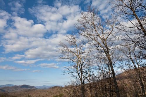 mountains clouds sunrise landscape cabin northcarolina smokies