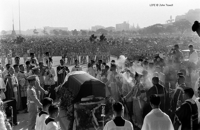 Funeral of Philippine President Ramon Magsaysay, Manila, March 1957