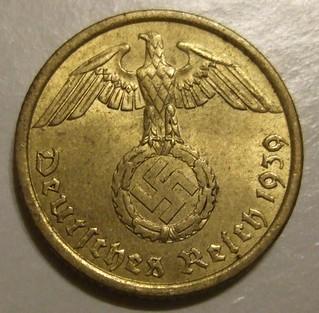 GERMAN REICH, 1939 ---10 REICHSPFENNIG b