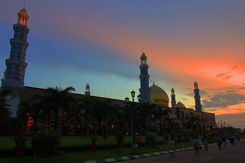 sunset mosque masjid kubahemas