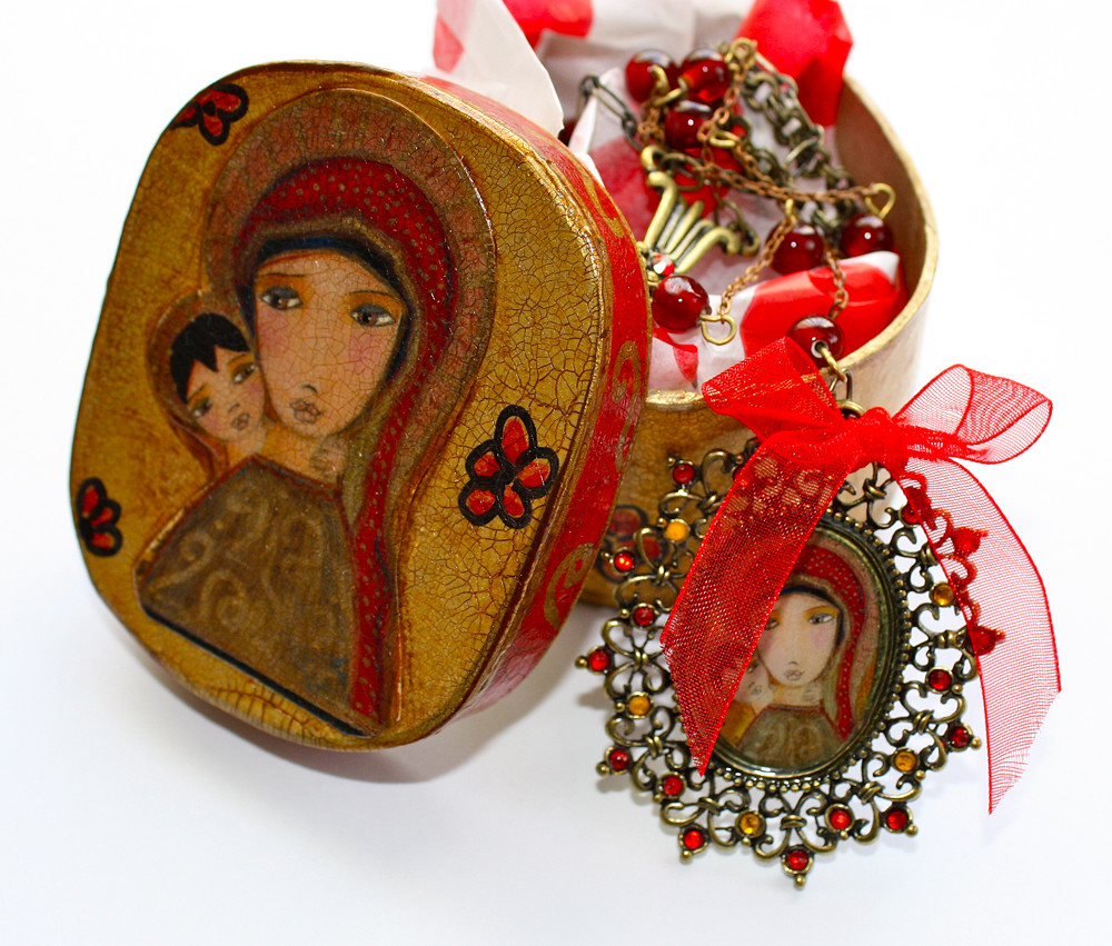 byzantine jewelry box and necklace 1 | Sold! | Flor Larios | Flickr