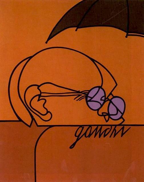 Adami, Valerio (1935- ) - 1972 Gandhi