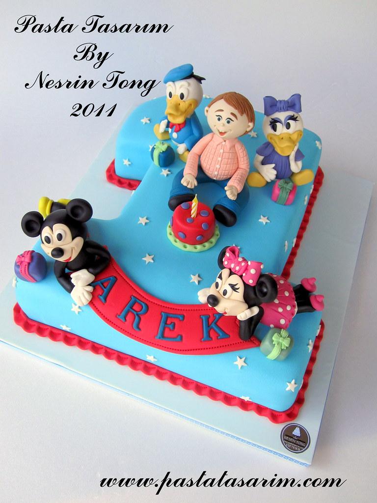 Groovy 1St Birthday Cake Disney Characters Arek Birthday Flickr Funny Birthday Cards Online Bapapcheapnameinfo