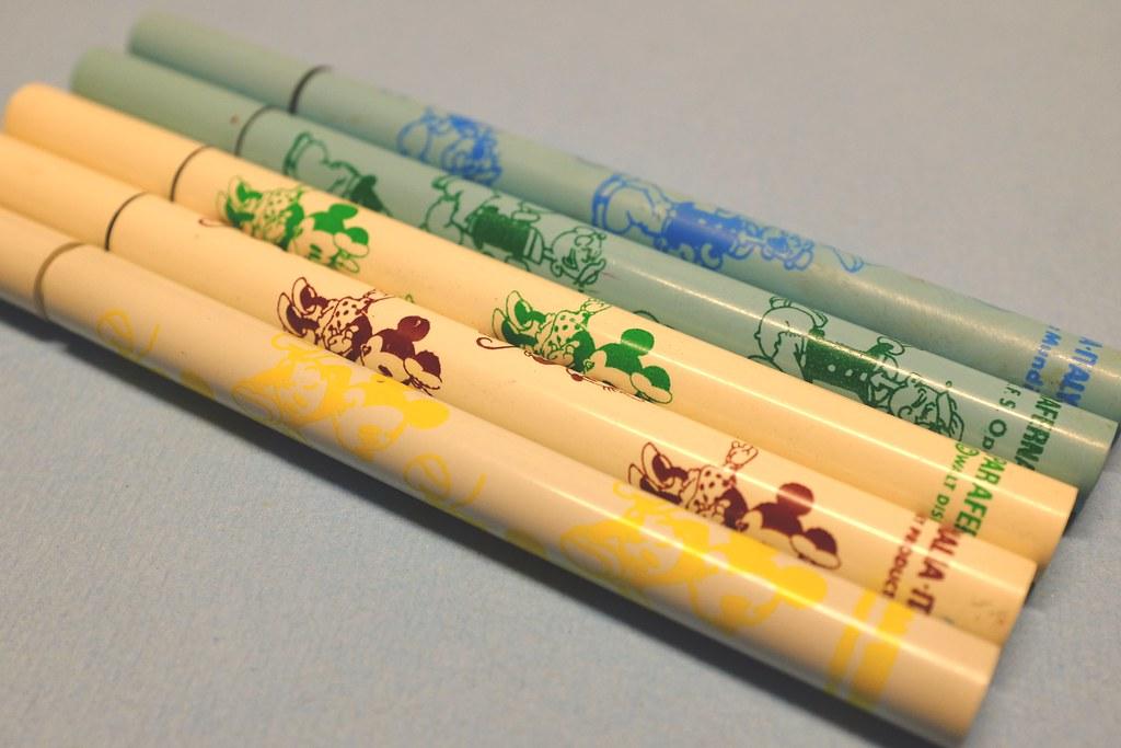 80s Vintage Pens Parafernalia - Italy - Minnie, Popeye - W