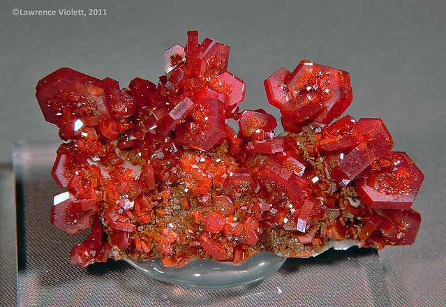 Vanadinite crystals