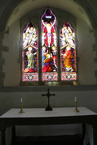 East window and altar - St Michael's, Discoed | by pluralzed