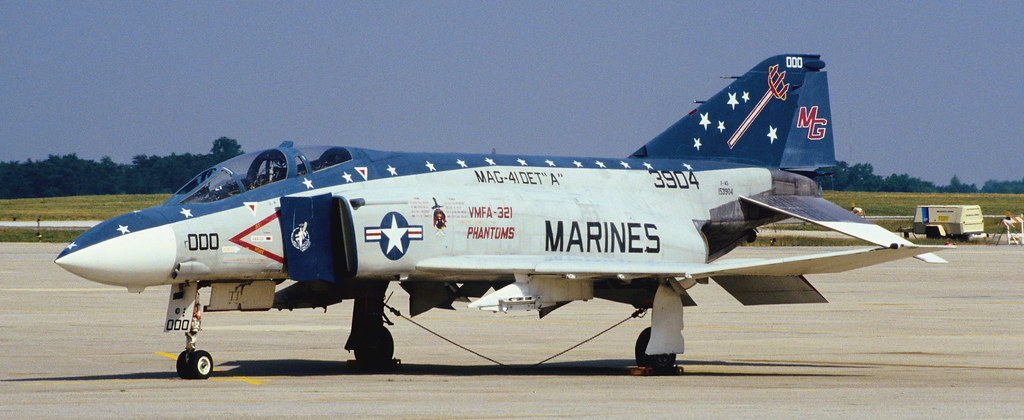F4S, 153904/3904, VMFA-321, Andrews AFB, somehere in the '90s