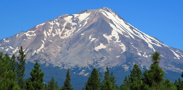 Mt. Shasta viewed from the south side near McCloud