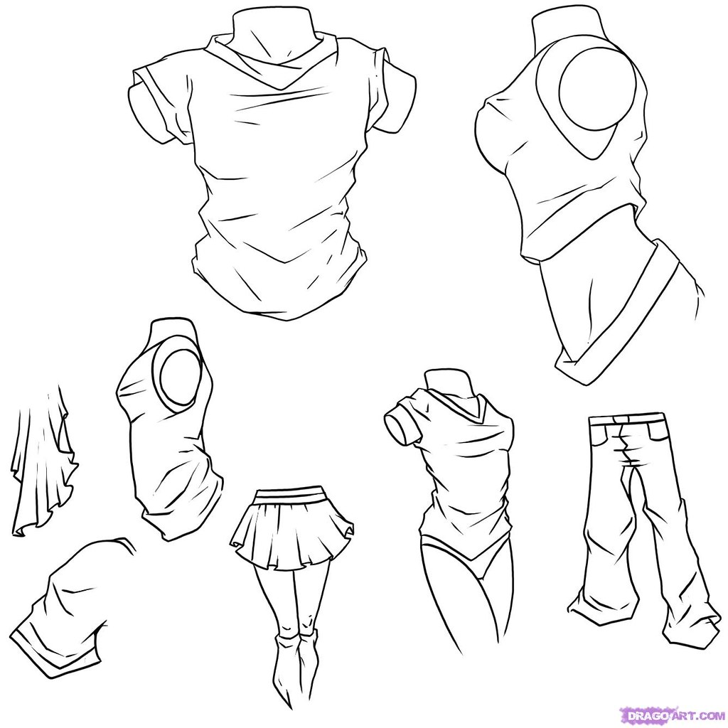 How to draw anime clothes step 11 by irishkate17