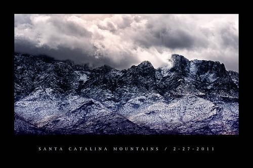 arizona snow mountains print santacatalinamountains orovalley tabletopmountain