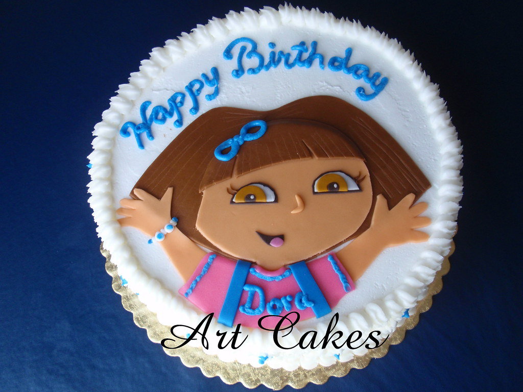 Amazing Dora Birthday Cake Well This Was A Cake For A Lady Name Do Flickr Funny Birthday Cards Online Alyptdamsfinfo