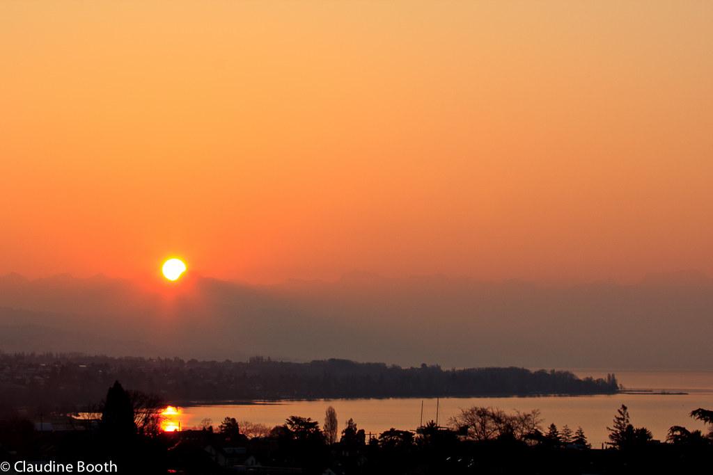 Le même paysage à l'aube