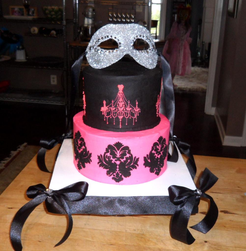 Masquerade Ball Themed Birthday Cake | Cake I made for my da… | Flickr
