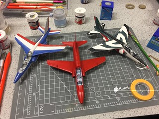 Three aircraft in the process.   by Ms Modeller
