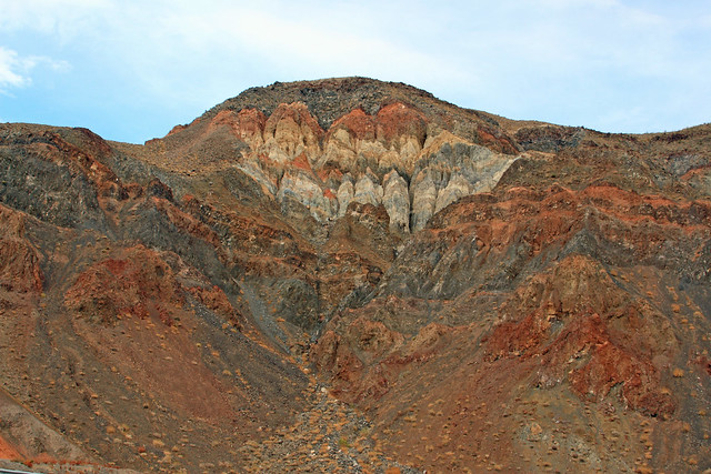 Oddly colored rocks in Death Valley