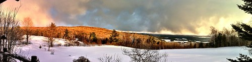 panorama snow clouds scenery lakes