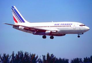 Air France Boeing 737 200 N4522w Mia March 1980 Bxn