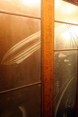Queen Mary - Transportation Mural (Aft Elevators) - Cracked Glass (Between Promenade and Main Decks) | by Miss Shari