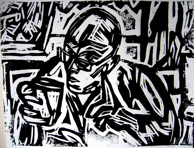 Coffee Shop Revolutionist -Self Portrait.