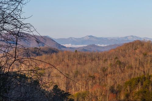 mountains sunrise landscape cabin northcarolina smokies plandscape