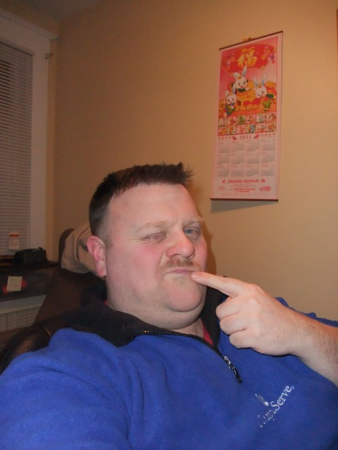 Brian with a dodgy mustache