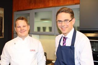 Chef Mikko Rosendahl & Finance minister Jyrki Katainen | by Tatti&Tatti
